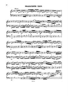 Präludium und Fuge Nr.24 in h-Moll, BWV 893: Für Cembalo by Johann Sebastian Bach