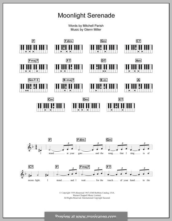 Moonlight Serenade: Für Keyboard by Glenn Miller
