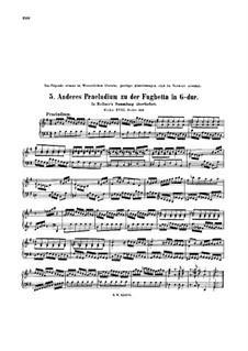 Präludium in G-Dur, BWV 902a: Für Klavier by Johann Sebastian Bach