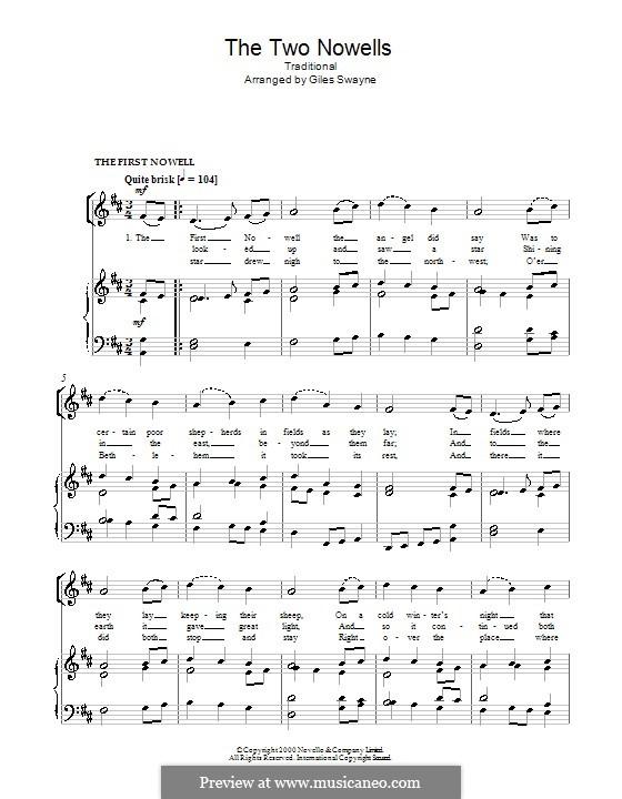 The Two Nowells: Für Stimme und Klavier (oder Gitarre) by Giles Swayne