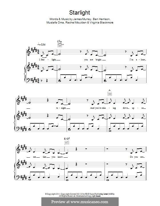 Starlight (Wonderland): Für Stimme und Klavier by James R. Murray, Ben Harrison, Mustafa Oma, Rachel Moulden, Virginia Blackmore