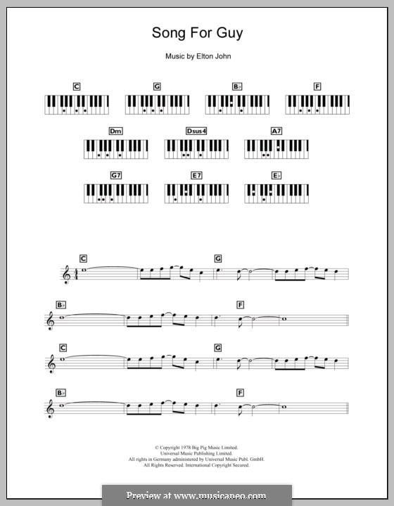 Song for Guy: Für Keyboard by Elton John