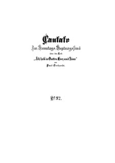 Ich hab in Gottes Herz und Sinn, BWV 92: Vollpartitur by Johann Sebastian Bach