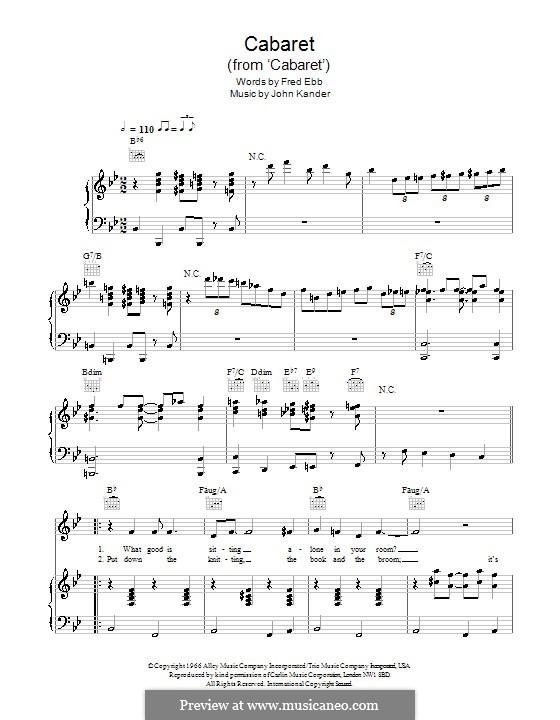 Cabaret (Liza Minnelli): Für Stimme und Klavier by John Kander
