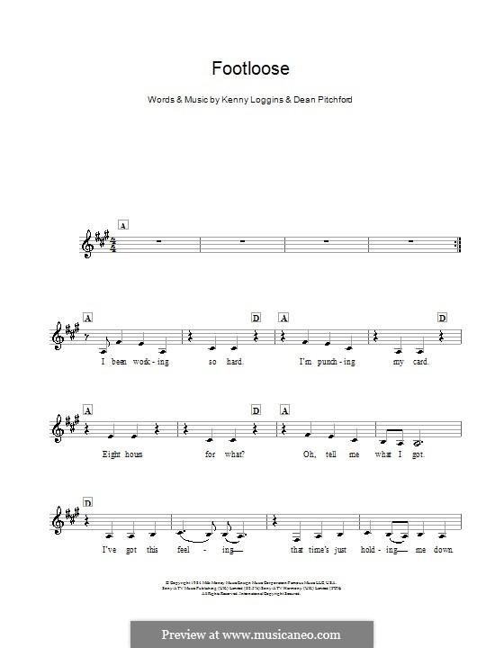 Footloose: Für Keyboard by Kenny Loggins