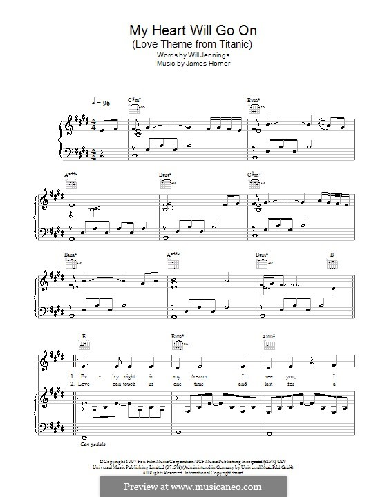 my heart will go on violin sheet music pdf
