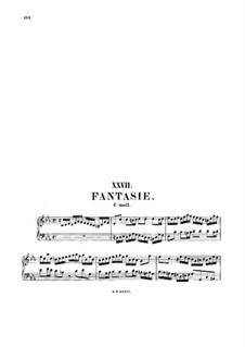 Fantasie in c-Moll, BWV 919: Für Keyboard by Johann Sebastian Bach