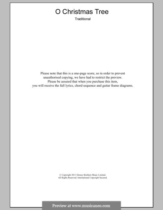 O Tannenbaum: Text und Akkorde by folklore