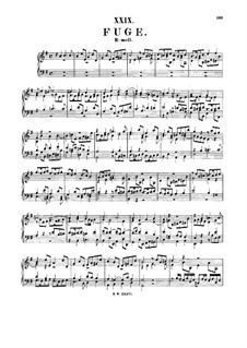 Fuge in e-Moll, BWV 945: Fuge in e-Moll by Johann Sebastian Bach