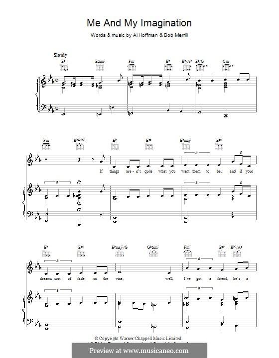 Me and My Imagination: Für Stimme und Klavier (oder Gitarre) by Al Hoffman, Bob Merrill