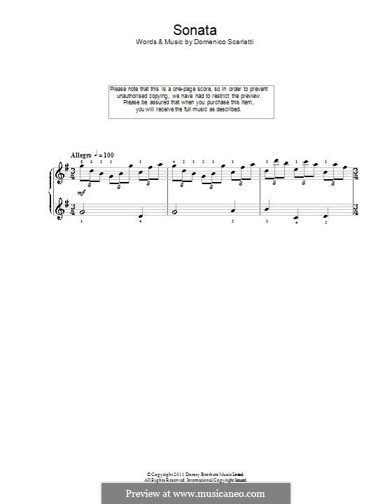 Sonate Nr.83 in G-Dur, K.431 L.83 P.365: Für Klavier by Domenico Scarlatti