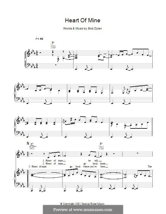 Heart of Mine (Norah Jones): Für Stimme und Klavier (oder Gitarre) by Bob Dylan