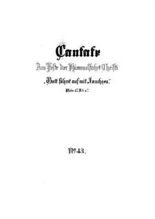 Gott fähret auf mit Jauchzen, BWV 43: Vollpartitur by Johann Sebastian Bach