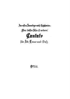 Mein liebster Jesus ist verloren, BWV 154: Vollpartitur by Johann Sebastian Bach