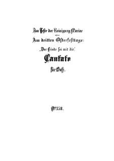 Der Friede sei mit dir, BWV 158: Vollpartitur by Johann Sebastian Bach