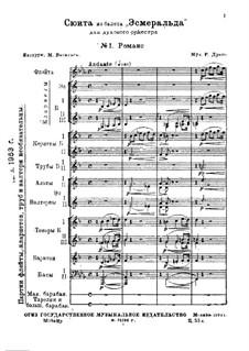 Suite from Ballet 'Esmeralda': No.1 Romance – score by Riccardo Drigo