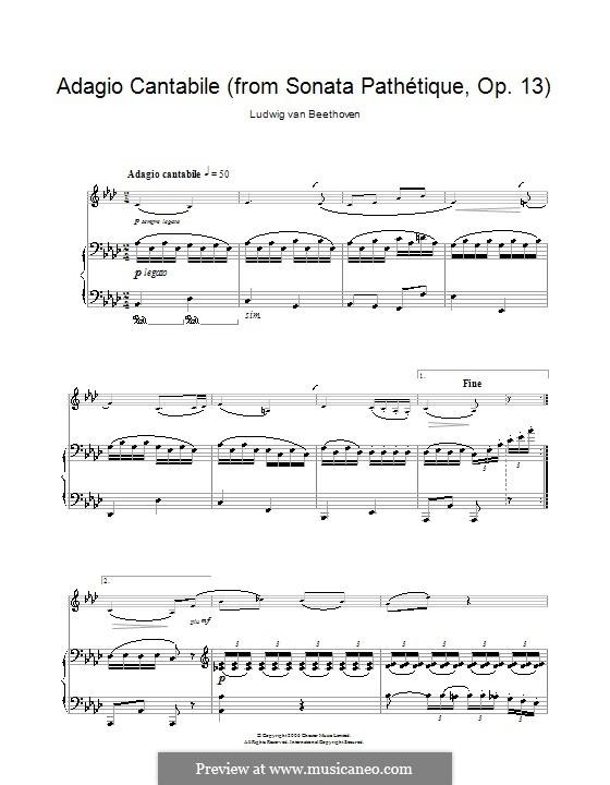 Teil II: Version für Klarinette und Klavier by Ludwig van Beethoven