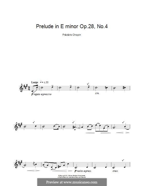 Nr.4 in e-Moll: Für Klarinette by Frédéric Chopin