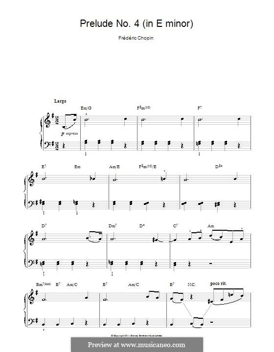 Nr.4 in e-Moll: Für Klavier, leicht by Frédéric Chopin