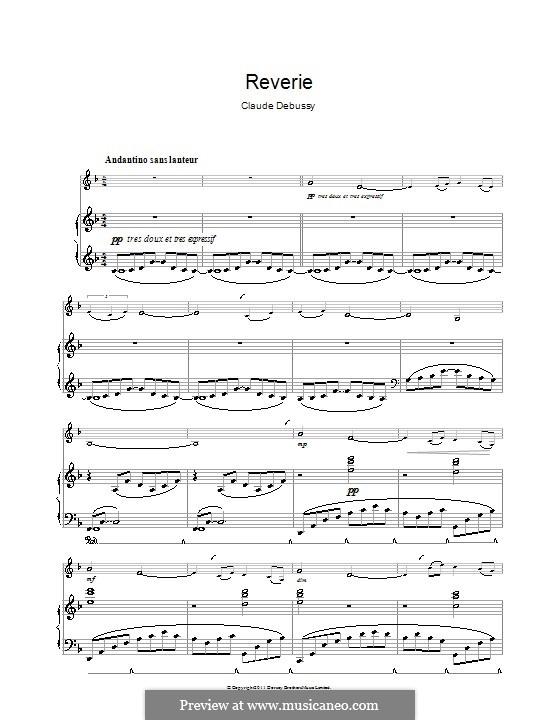 Rêverie, L.68: Für Klarinette und Klavier by Claude Debussy