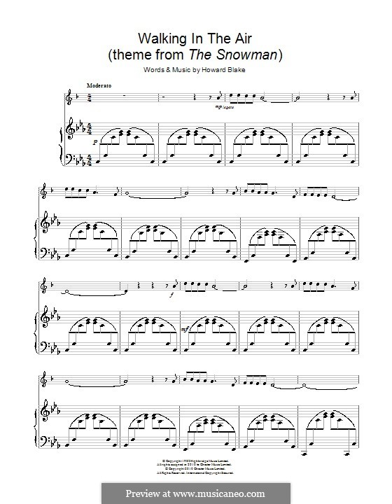 Walking in the Air: For trumpet and piano by Howard Blake