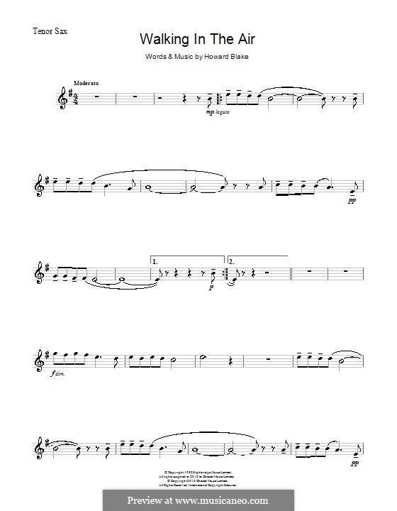 Walking in the Air: Für Tenorsaxophon by Howard Blake