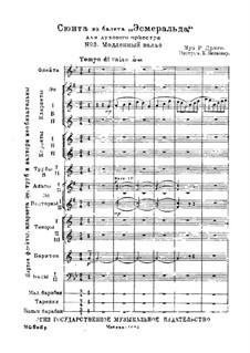 Suite from Ballet 'Esmeralda': No.3 Slow waltz – score by Riccardo Drigo