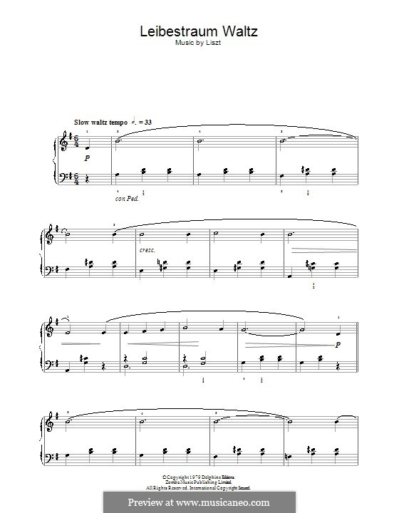 Nocturne Nr.3: Theme (very easy version) by Franz Liszt