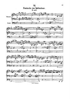 Fantasie mit Imitation in h-Moll, BWV 563: Für Orgel by Johann Sebastian Bach