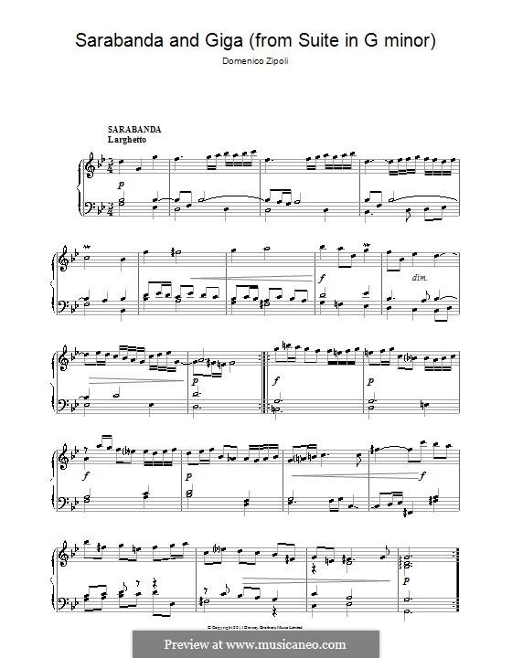 Sarabanda and Giga in G Minor: Sarabanda and Giga in G Minor by Domenico Zipoli