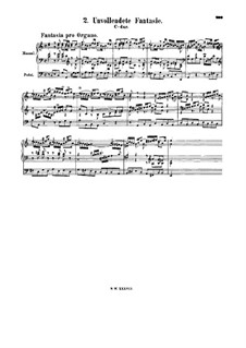 Fantasie in C-Dur (Unvollendete), BWV 573: Fantasie in C-Dur (Unvollendete) by Johann Sebastian Bach