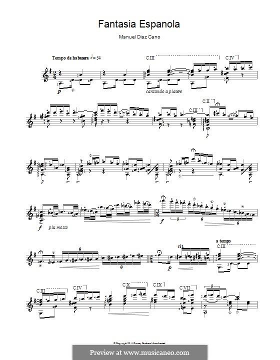 Fantasia Espanola: Fantasia Espanola by Manuel Diaz Cano