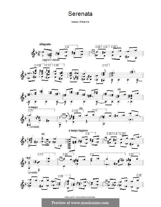 Nr.4 Serenade: Für Gitarre by Isaac Albéniz