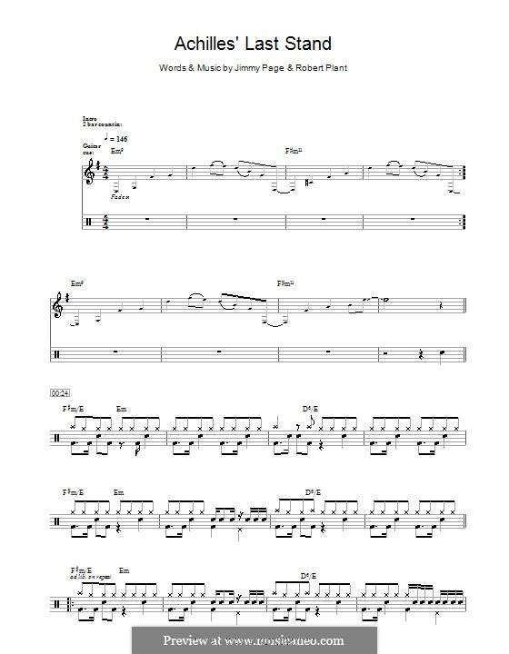 Achilles Last Stand (Led Zeppelin): Für Trommeln by Jimmy Page, Robert Plant