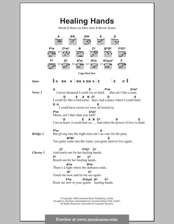 Healing Hands: Text und Akkorde by Elton John