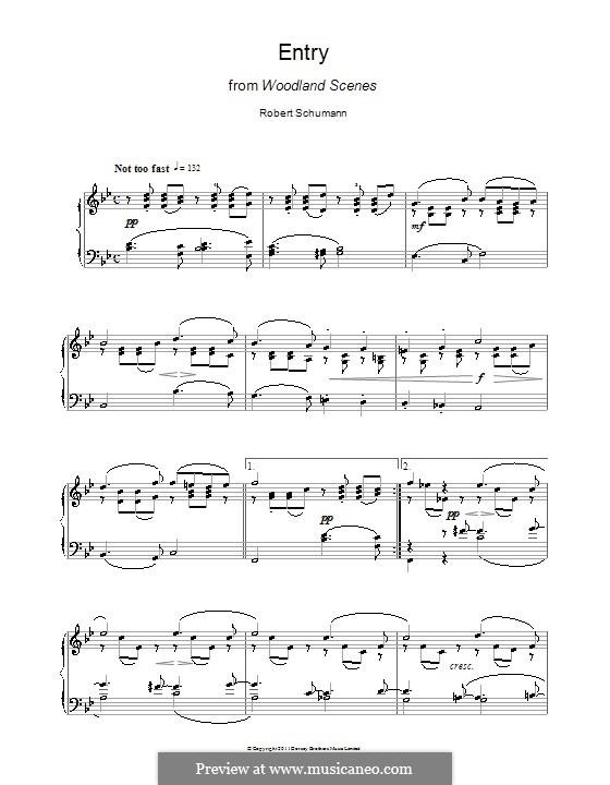 Waldscenen: Nr.1 Eintritt by Robert Schumann