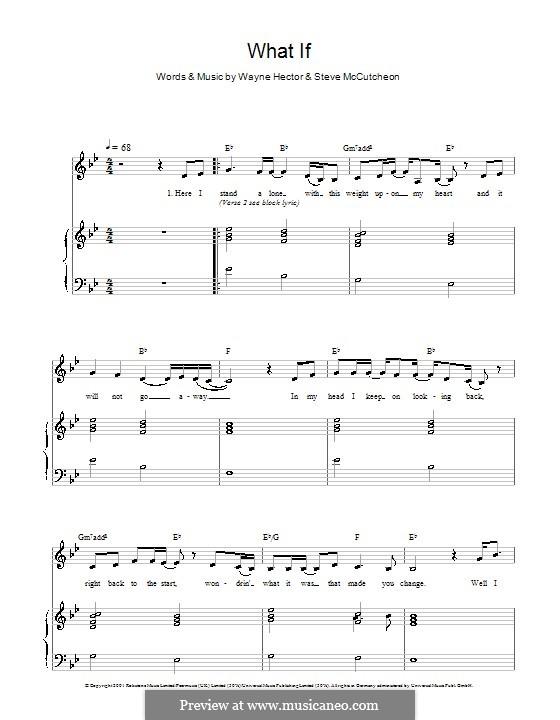 What If (Kate Winslet): Für Stimme und Klavier by Steve Mac, Wayne Anthony Hector