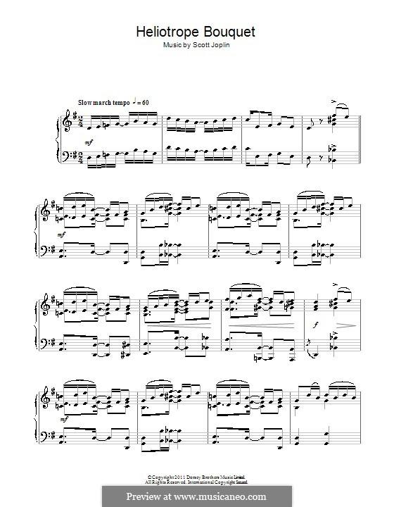 Heliotrope Bouquet: Für Klavier by Scott Joplin, Louis Chauvin