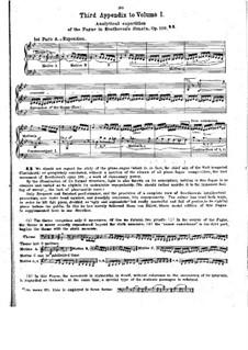 Sonate für Klavier Nr.29, Op.106: Analytisch Beschreibung der Fuge by Ludwig van Beethoven