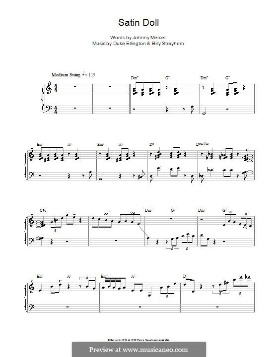 Satin Doll: Für Stimme und Klavier (oder Gitarre) by Billy Strayhorn, Duke Ellington
