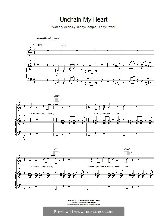 Unchain My Heart (Ray Charles): Für Stimme und Klavier (oder Gitarre) by Bobby Sharp, Teddy Powell