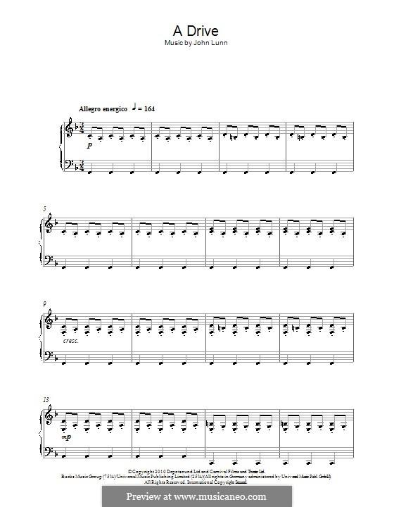 A Drive: Für Klavier by John Lunn