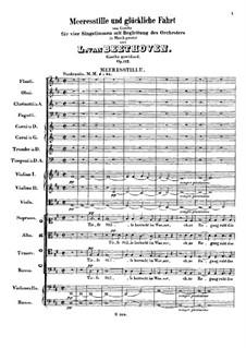 Kantate 'Meeresstille und glückliche Fahrt', Op.112: Meeres Stille by Ludwig van Beethoven