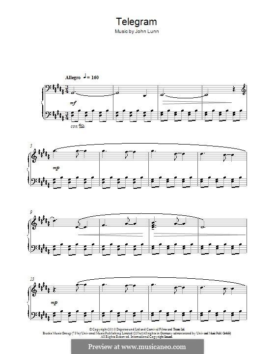 Telegram: Für Klavier by John Lunn