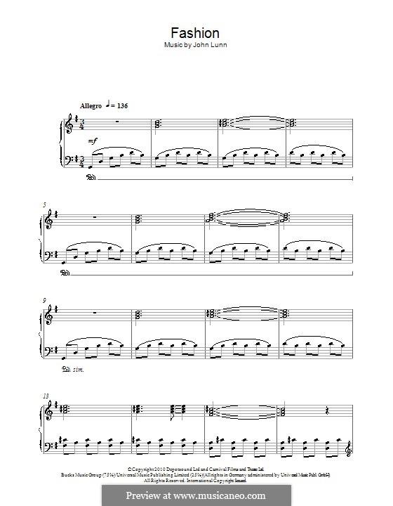 Fashion: Für Klavier by John Lunn