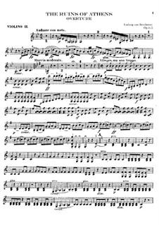 Ouvertüre: Violinstimme II by Ludwig van Beethoven