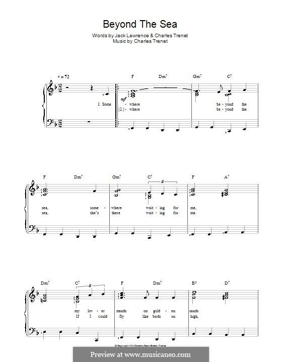 Beyond the Sea: Für Stimme und Klavier (Bobby Darin) by Albert Lasry, Charles Trenet