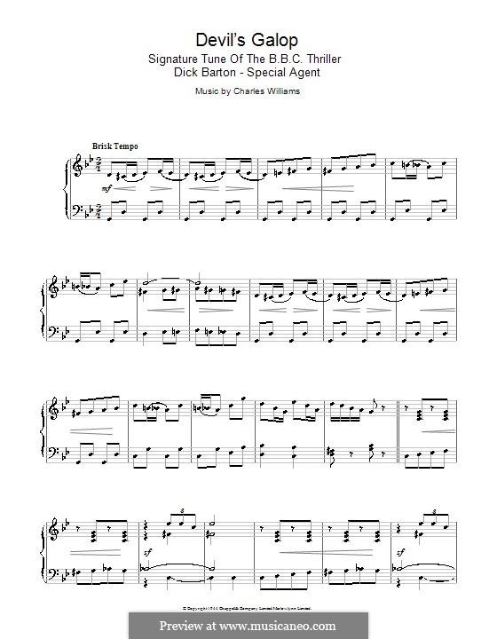 Devil's Galop (Theme to Dick Barton): Für Klavier by Charles Lee Williams
