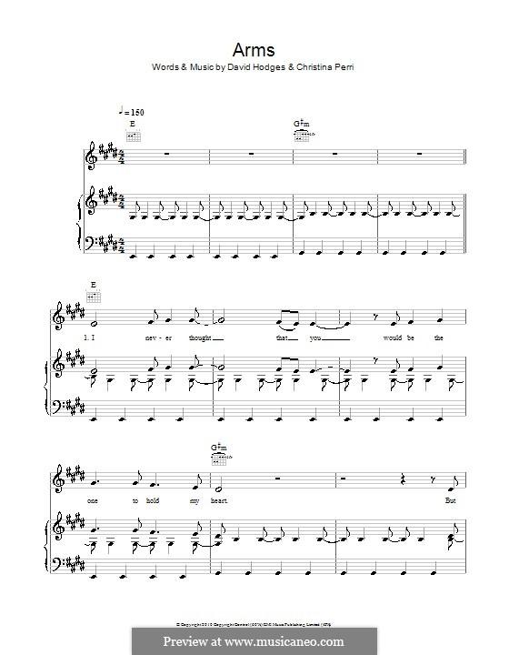 Arms: Für Stimme und Klavier (oder Gitarre) by Christina Perri, David Hodges