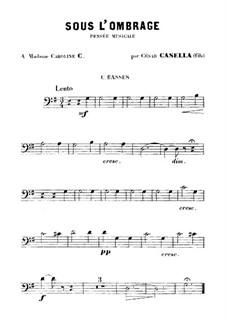 Sous l'Ombrage: Kontrabass-Stimme by Cesar Casella